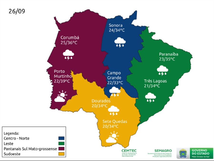 Center mapa tempo 26 setembro