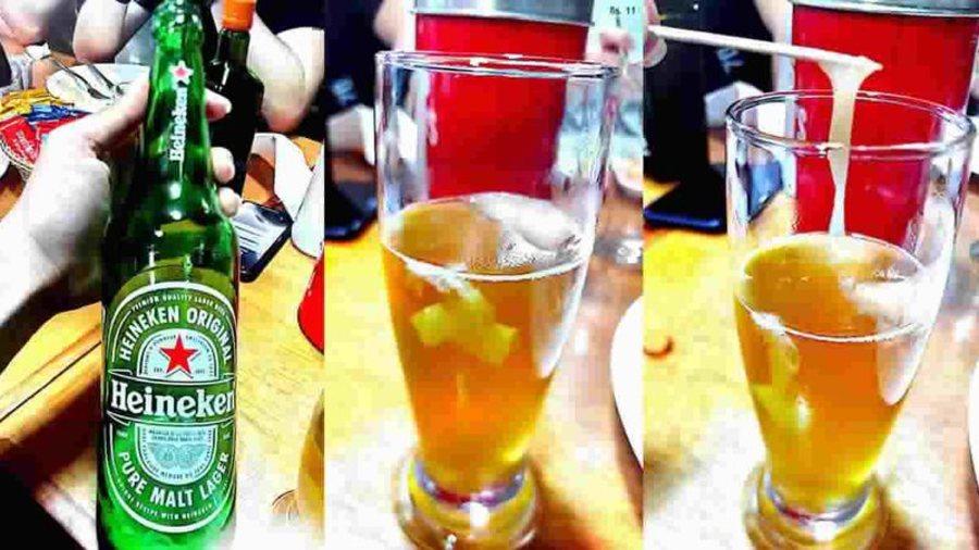 Center objeto estranho na cerveja 2 widelg